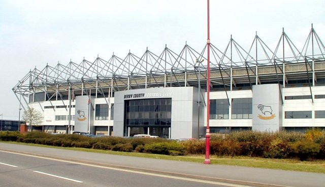 Derby County soccer club's Pride Park Stadium. (CC BY SA-2.0, Chris Dixon,Wikipedia)