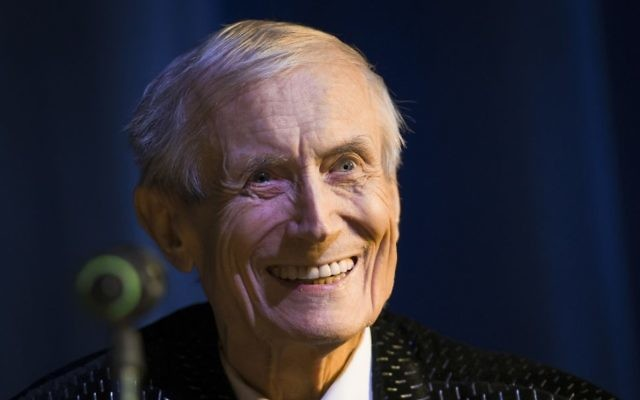 In this file photo taken on Tuesday, Jan. 6, 2015, Yevgeny Yevtushenko, 81, a Soviet and Russian poet, performs in Moscow, Russia.  (AP Photo/Alexander Zemlianichenko, file)