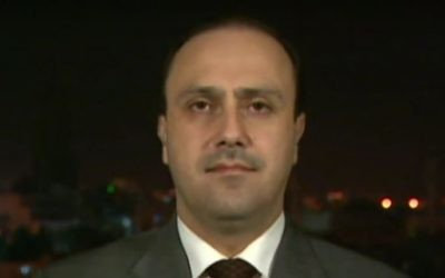Jordanian government spokesman Mohammed Momani. (Screen capture: YouTube)