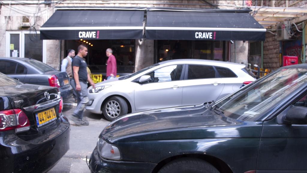 Crave's neighbors include restaurants Mahneyuda, Yudale, Ishtabach, Jacko Street and Flora Pizza (Luke Tress/Times of Israel)