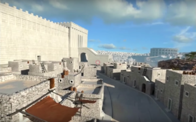 Ancient Jerusalem in virtual reality through a new app called Lithodomos VR (screen capture: Lithodomos VR)
