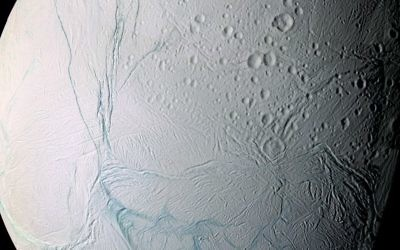 This June 28, 2009 image provided by NASA, taken by the international Cassini spacecraft, shows Enceladus, one of Saturn's moons. (AP Photo/NASA)
