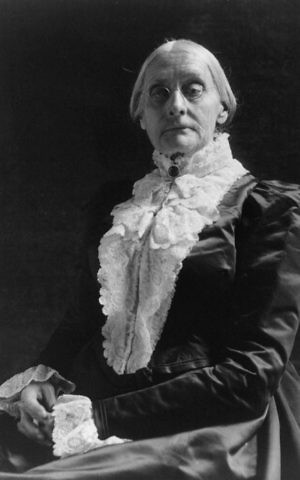 Susan B. Anthony was unable to reverse history's momentum on the Adam and Eve story. (Public domain)