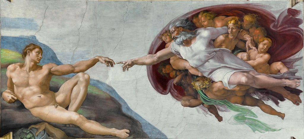 The Creation of Adam depicted in the Sistine Chapel by Michelangelo (Wikipedia / Public Domain)