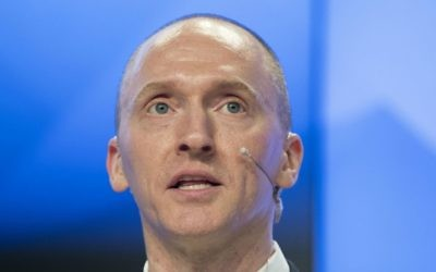 In this Dec. 12, 2016, file photo, Carter Page, a former foreign policy adviser of US President Donald Trump, speaks at a news conference at RIA Novosti news agency in Moscow, Russia. (AP Photo/Pavel Golovkin, file)