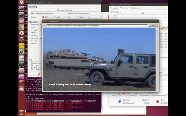 IDF technology automatically transcribes video into text. (Courtesy)