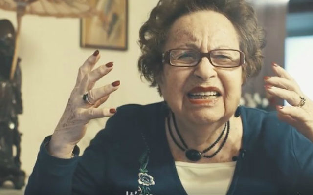 Holocaust survivor Ruth Zimmerman expresses her anguish over the gassing of Syrian children. (Facebook video)