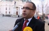 Parliamentary candidate Ashuk Ahmed, suspended by the UK Liberal Democrat Party on April 25 after anti-Semitic social media posts were exposed.  (YouTube screenshot)