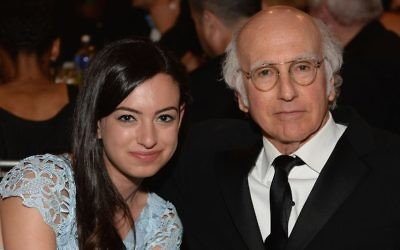 Cazzie David with her father Larry David at a ceremony honoring Mel Brooks at the Dolby Theatre in Hollywood, June 6, 2013. (Michael Kovac/WireImage)