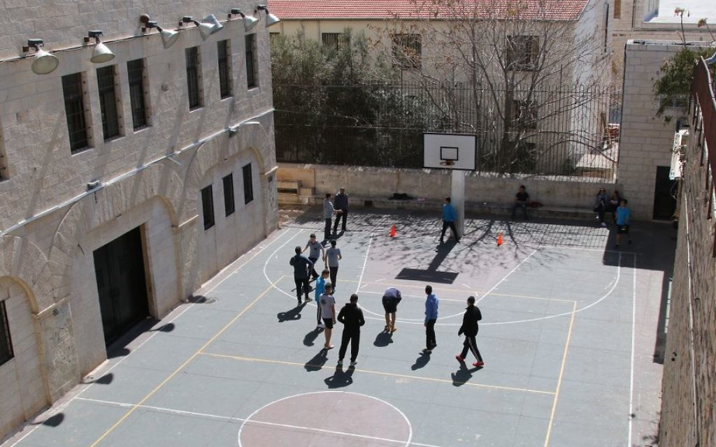 A basketball court for youths in the Christian Quarter. (Shmuel Bar-Am)
