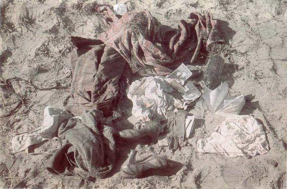 A photograph of Jewish victims' belongings taken after the Babi Yar massacre in Kiev, Ukraine, end of September 1941. (Public domain)