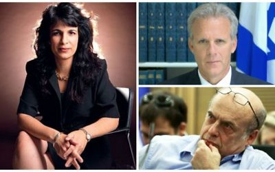 Clockwise, from left: Nitsana Darshan Leitner, Michael Oren, Natan Sharansky. (courtesy)