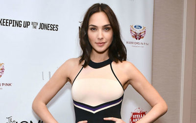 Israeli actress Gal Gadot at a screening of the film 'Keeping Up With The Joneses' at The London Hotel in West Hollywood, California, October 20, 2016. (Araya Diaz/WireImage/Getty Images via JTA)