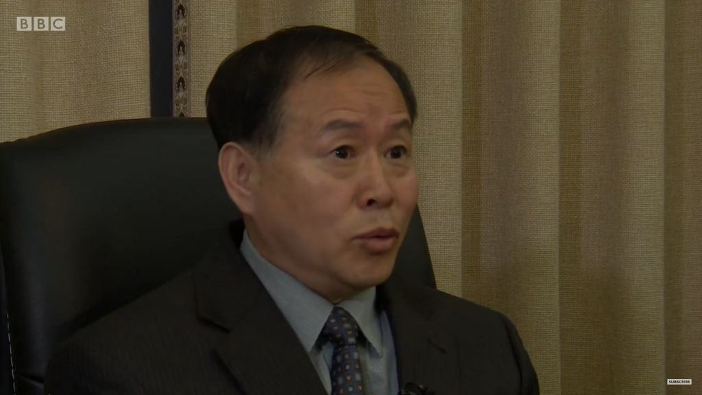 North Korean Vice Foreign Minister Han Song-Ryol, April 17, 2017 (Screen capture: YouTube)