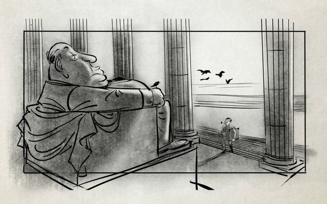 Storyboard by Patrick Mate from 'Harold and Lillian' (Zeitgeist Films)