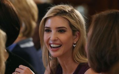Ivanka Trump attends at a luncheon she was hosting to mark International Women's Day in the State Dining Room at the White House March 8, 2017 in Washington, DC.  (Mark Wilson/Getty Images)