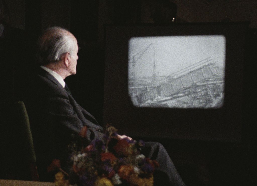 Albert Speer in Marcel Ophuls' documentary 'The Memory of Justice.' (Courtesy HBO)