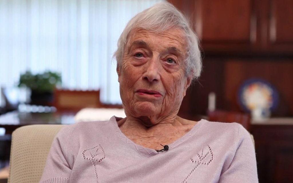Nanette Konig giving an interview to Estado TV, March 2015. (Courtesy of Estado)