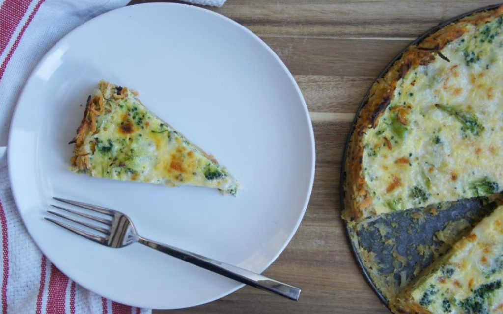 Quiche with veggie crust for Passover (Shannon Sarna/via JTA)