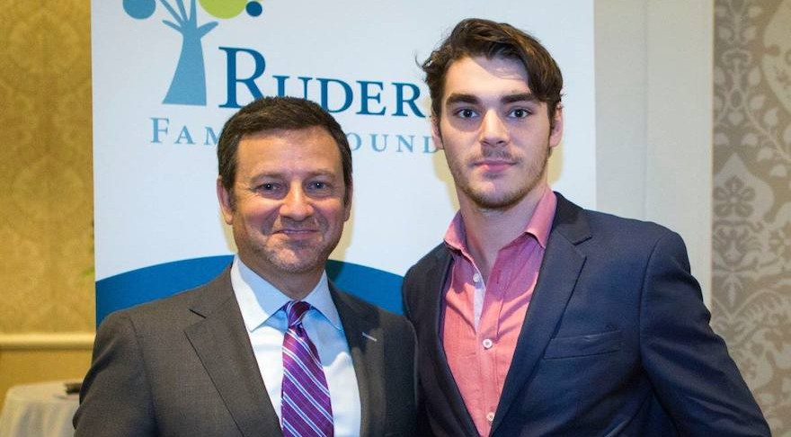 Jay Ruderman Left With R J Mitte An Actor Cerebral Palsy Who Starred