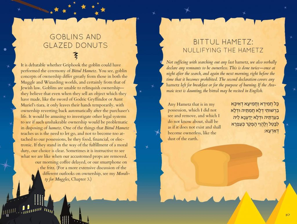 Getting rid of leavened bread with 'The (Unofficial) Hogwarts Haggadah.' (Courtesy)