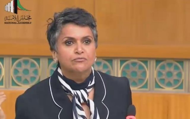 Kuwaiti MP Safa Al-Hashem in parliament (Courtesy MEMRI)