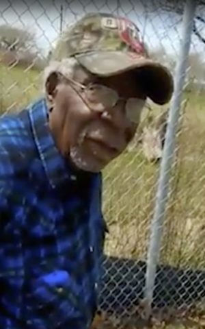 This Sunday, April 16, 2017 frame from video posted on Facebook shows Robert Godwin Sr. in Cleveland, moments before being fatally shot. The search for murder suspect Steve Stephens put authorities in surrounding states on the lookout Monday after police said the man might have left Ohio. (Facebook via AP)