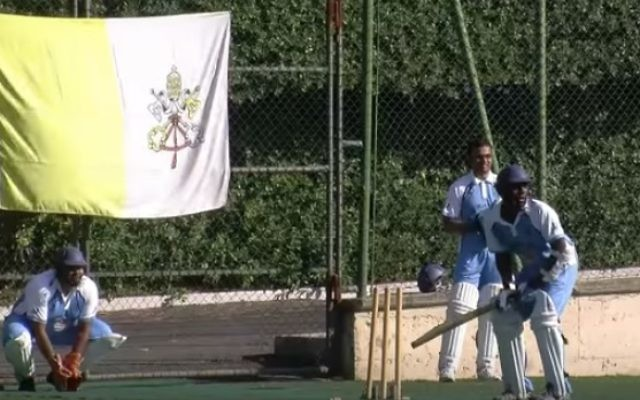The Vatican cricket team in 2013 (YouTube screenshot)