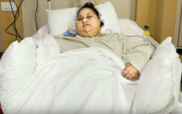 Eman Ahmed Abd El Aty, formerly the world's heaviest woman, has lost half her weight in two months. (screenshot: YouTube)