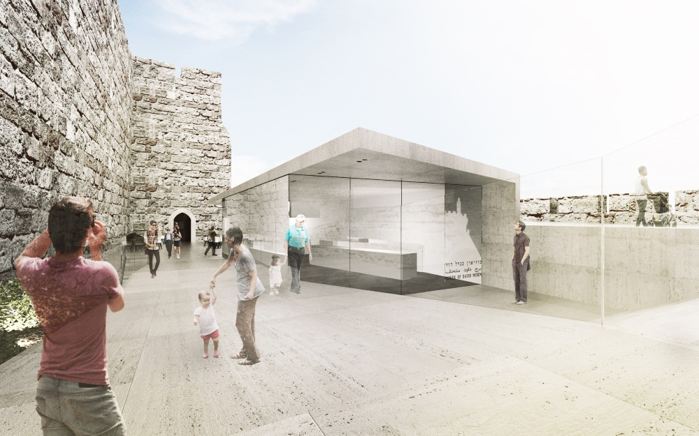 The Tower of David will switch its entrance to the western side, adding elements to welcome visitors (Courtesy Kimmel Eshkolot Architects)