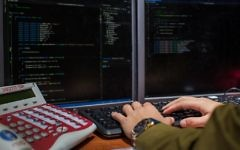 Illustrative. An IDF soldier from the C4I Corps types on a computer. (Israel Defense Forces)