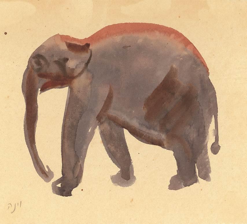 An elephant from Nahum Gutman's collection (Courtesy Nahum Gutman)