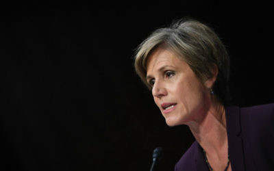 Former acting US attorney general Sally Yates testifies on May 8, 2017 before the US Senate Judiciary Committee on Capitol Hill in Washington, DC. (Jim Watson/AFP)