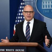 National Security Adviser H. R. McMaster speaks during a press briefing at the White House in Washington, DC on May 16, 2017. (AFP PHOTO / Olivier Douliery)