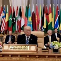 Illustrative: US President Donald Trump center seated at the Arabic Islamic American Summit at the King Abdulaziz Conference Center in Riyadh, May 21, 2017. (AFP/MANDEL NGAN)