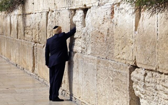 trump at the western wall a carefully calibrated act of respect
