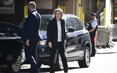 Britain's Home Secretary Amber Rudd arrives at Downing Street in central London on May 24, 2017, ahead of a meeting of the emergency Cobra committee in response to the May 22 terror attack at the Ariana Grande concert at the Manchester Arena. (AFP/ Justin TALLIS)