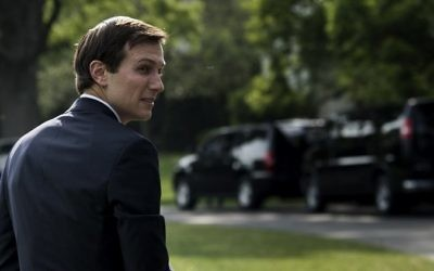 This file photo taken on April 27, 2017 shows White House Senior Advisor Jared Kushner walking to the White House in Washington, DC. (AFP/ Brendan Smialowski)