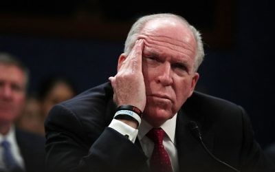 Former director of the US Central Intelligence Agency (CIA) John Brennan testifies before the House Permanent Select Committee on Intelligence on Capitol Hill, May 23, 2017, in Washington, DC. (Alex Wong/Getty Images/ AFP)