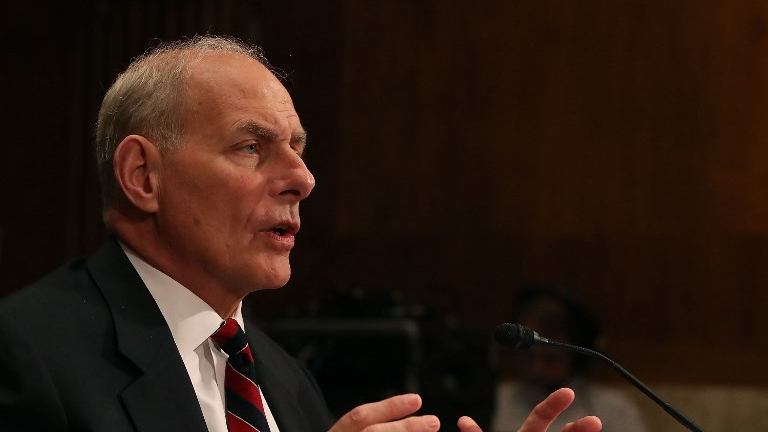 Homeland Security Secretary John Kelly testifies during a Senate Appropriations Committee hearing on Capitol Hill May 25, 2017 in Washington, DC. (Mark Wilson/Getty Images/AFP)