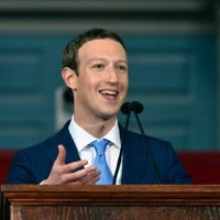 Facebook Founder and CEO Mark Zuckerberg delivers the commencement address at the Alumni Exercises at Harvard's 366th commencement exercises on May 25, 2017 in Cambridge, Massachusetts. (Paul Marotta/Getty Images/AFP)