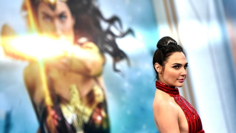 """Actress Gal Gadot arrives at the Premiere Of Warner Bros. Pictures' """"Wonder Woman"""" at the Pantages Theatre on May 25, 2017 in Hollywood, California. (Frazer Harrison/Getty Images/AFP)"""