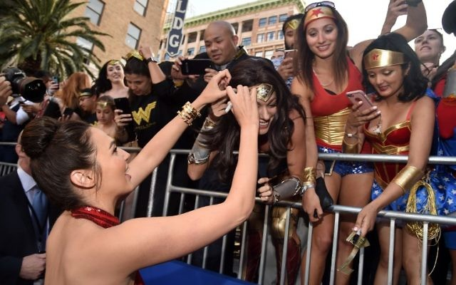 "Actress Gal Gadot attends the premiere of Warner Bros. Pictures' ""Wonder Woman"" at the Pantages Theatre on May 25, 2017 in Hollywood, California. (Alberto E. Rodriguez/Getty Images/AFP)"