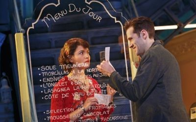 Phillipa Soo and Adam Chanler-Berat in 'Amelie, a New Musical' (Courtesy Joan Marcus, 2017)