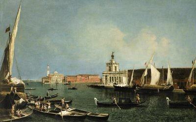 Michele Marieschi, La Punta della Dogana e san Giorgio Maggiore, 1739-40. (Sotheby's)