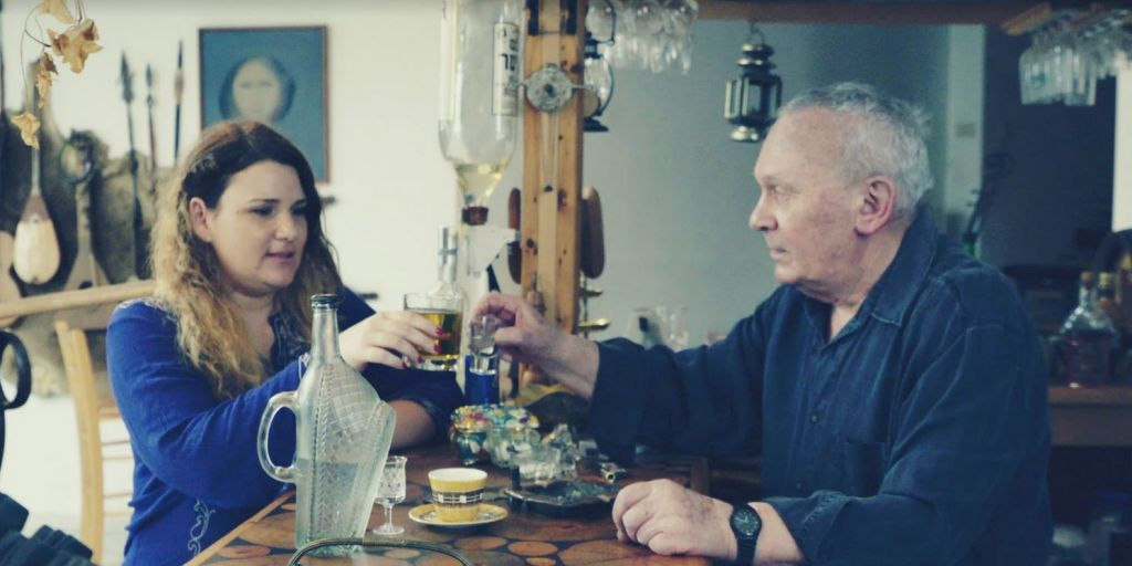 Screenshot from film of Anat Zalmanson-Kuznetsov with her father. (Courtesy/David Stragmeister/IBA & Latvia National Film Center)