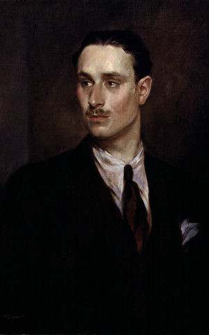 A 1925 portrait of Oswald Mosley by Glyn Warren Philpot. Mosley was the founder of the pro-German British Union of Fascists. (Public domain)