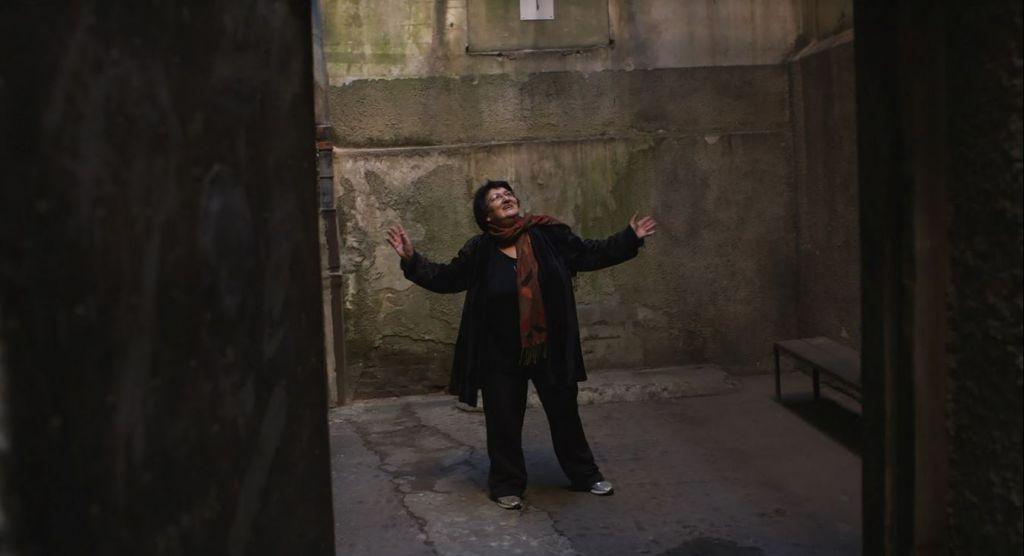 Sylva Zalmanson dancing the waltz in the prison yard in 'Operation Wedding.' (Courtesy/Andrejs Verhoustin/ IBA & Latvia National)