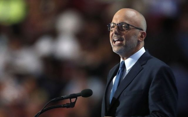Rep. Ted Deutch, D-Fla. speaks during the final day of the Democratic National Convention in Philadelphia , Thursday, July 28, 2016. (AP Photo/Paul Sancya)