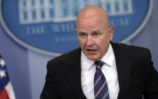National Security Adviser H.R. McMaster speaks during a briefing at the White House in Washington, Tuesday, May 16, 2017. (AP Photo/Susan Walsh)